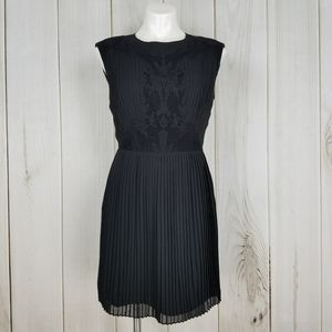 Ted Baker London Black Lace Pleated Dress